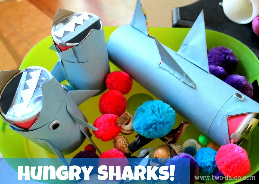 Hungry Sharks activity in Ocean Learning Theme from Twodaloo